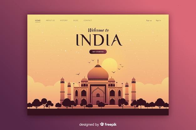 Touristic invitation to india template Free Vector