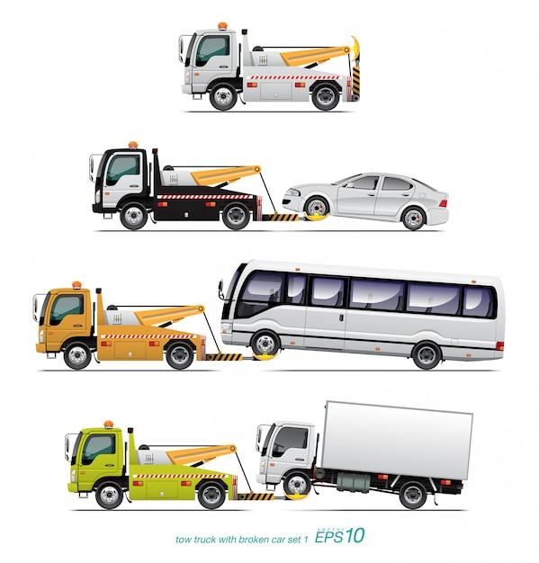 Tow truck Premium Vector