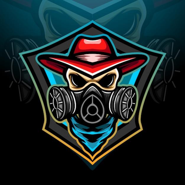 Toxic esport logo mascot design Premium Vector