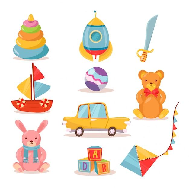 Toys for kids Premium Vector