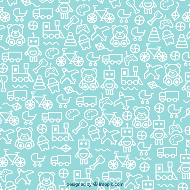 Toys Pattern Vector Free Download