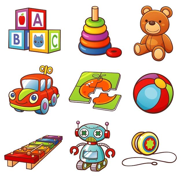 Toys set Premium Vector