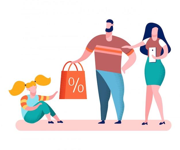 Toys store sales, deals flat vector illustration Premium Vector