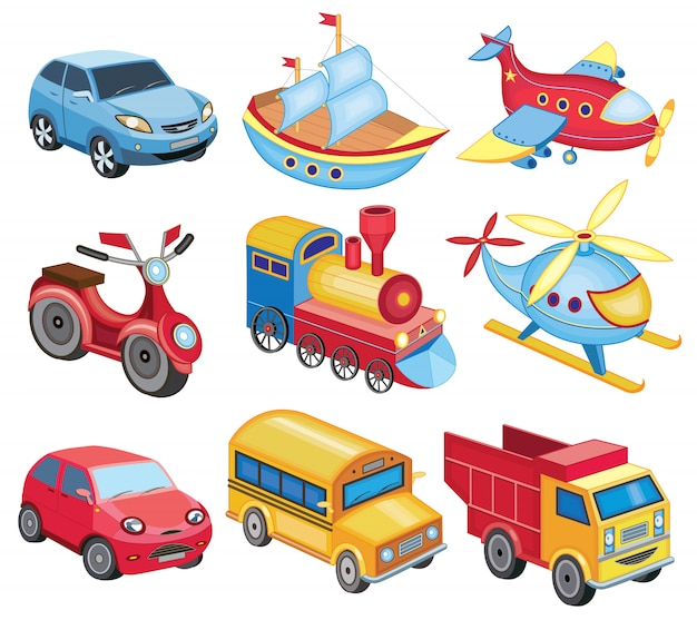 Toys for younger children Premium Vector