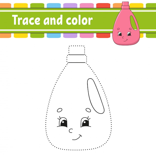 Trace and color. Premium Vector