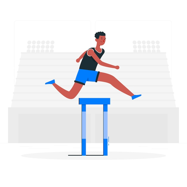 Track and field illustration concept Free Vector
