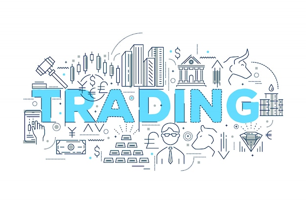 Trading linear design Free Vector