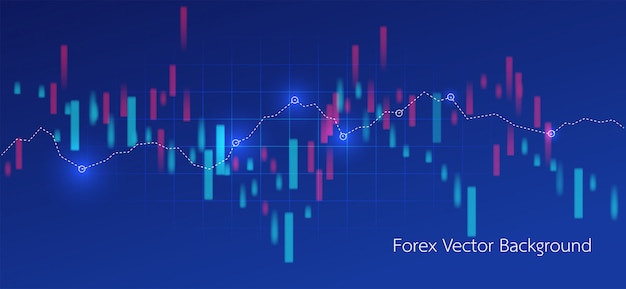 Trading and map world abstract financial chart Premium Vector