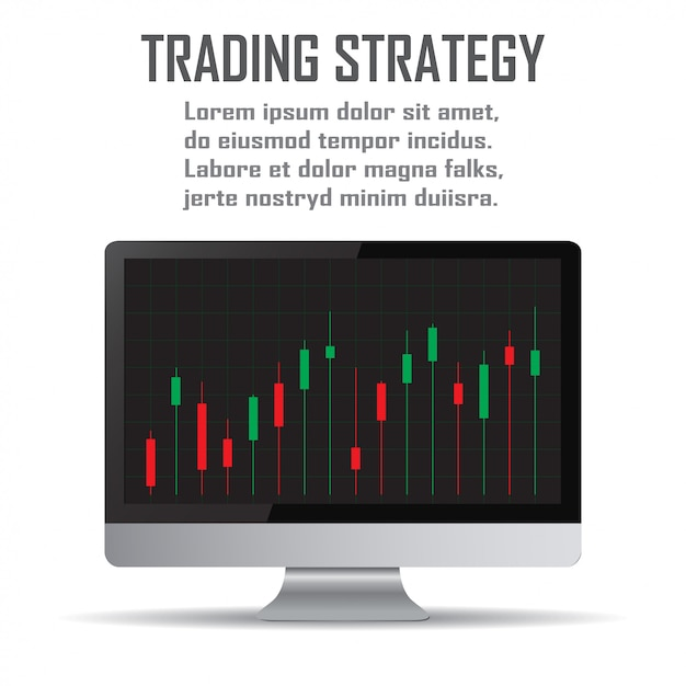 Trading strategy. investment strategies and online trading line art concept Premium Vector