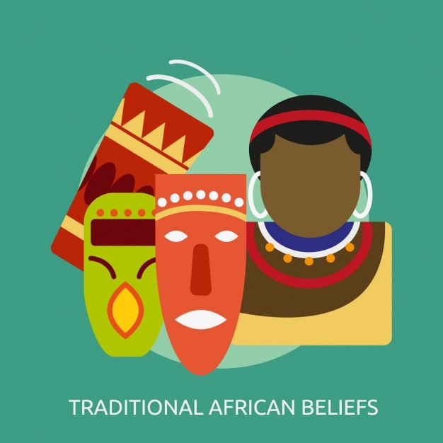 Traditional african beliefs design Free Vector