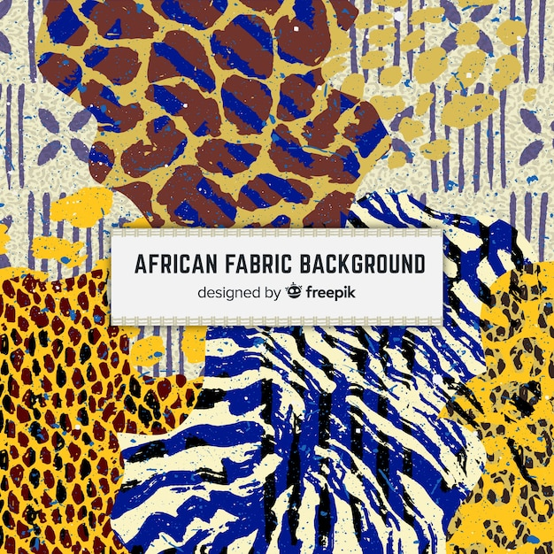 Traditional african fabric print background Free Vector