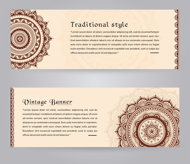 Traditional arabic invitation card template design Premium Vector