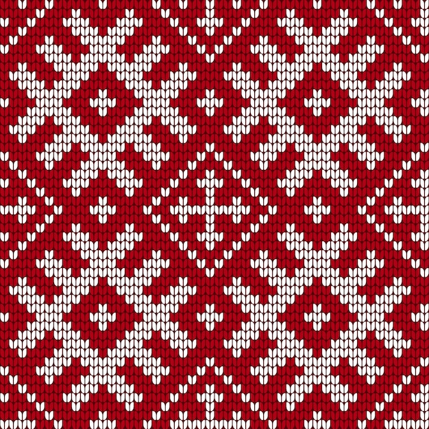 Traditional baltic knitting pattern Premium Vector