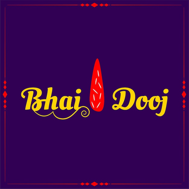 Traditional bhai dooj tilak  purple background Free Vector