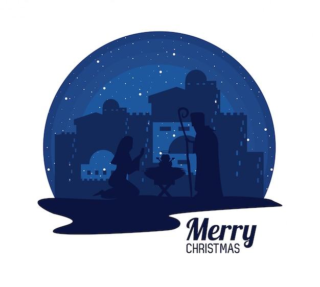 Traditional christian christmas Premium Vector