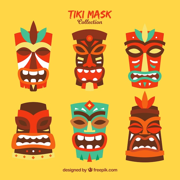 Traditional collection of tribal masks