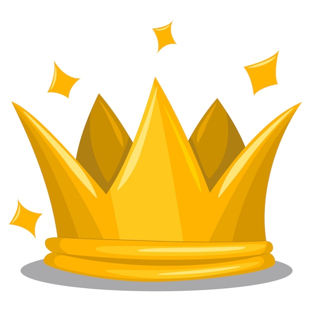 Premium Vector Traditional Gold King Crown Cartoon Vector Icon Of Royal Attribute Isolated On White Affordable and search from millions of royalty free images, photos and vectors. https www freepik com profile preagreement getstarted 6994238