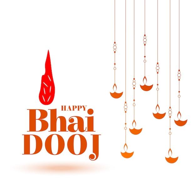 Traditional indian bhai dooj celebration background Free Vector