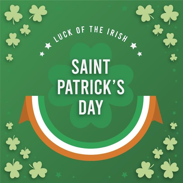Traditional irish saint patrick's day Free Vector