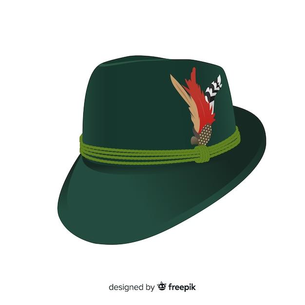 Traditional oktoberfest hat background Vector  d4f4801724e