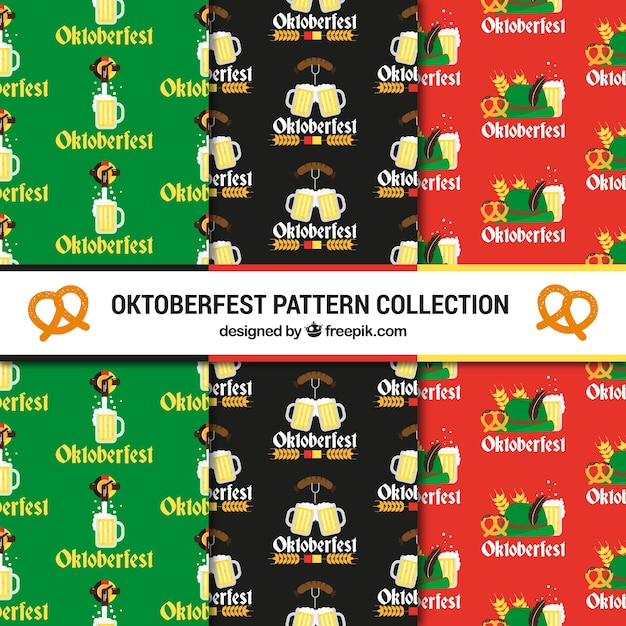 Traditional oktoberfest patterns