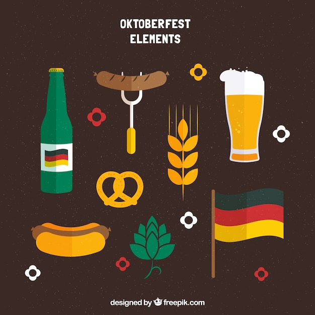 Traditional pack of oktoberfest elements