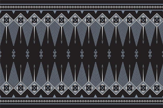 灰色の要素を持つ伝統的なソンケットパターン Premiumベクター