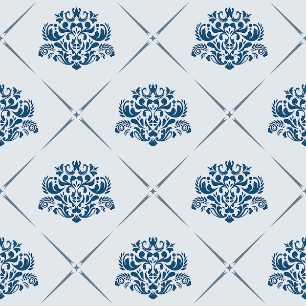 Traditional vector seamless pattern with victorian motives Free Vector