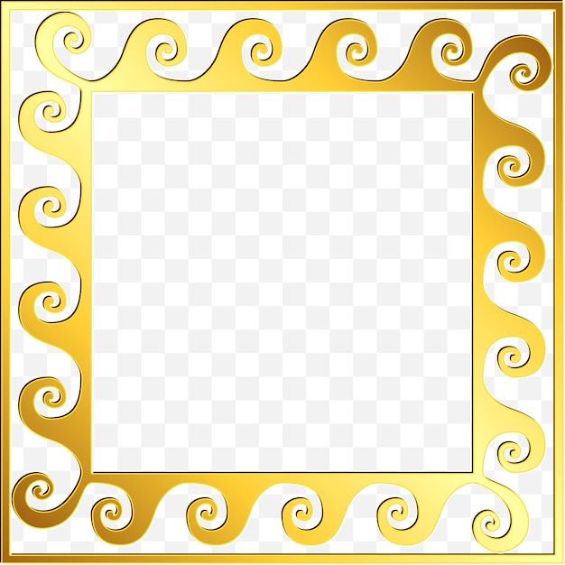 Traditional vintage gold greek ornament, meander Premium Vector