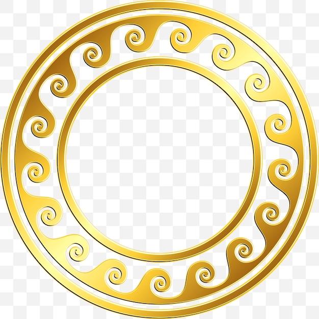 Traditional vintage gold greek ornament, meander Premium Vector