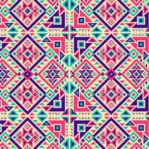伝統的な鮮やかな色の形のソンケットパターン Premiumベクター