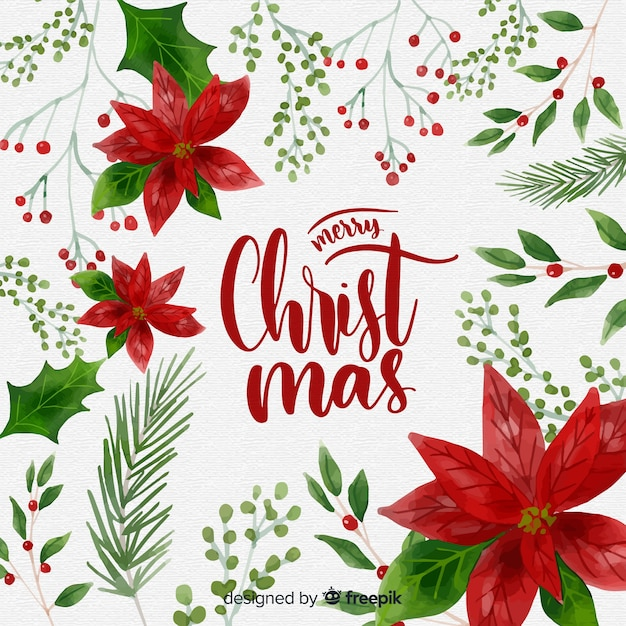Christmas Background Images Free.Traditional Watercolor Christmas Background Vector Free