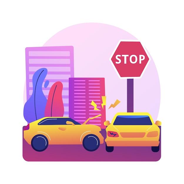 Traffic accident illustration Free Vector