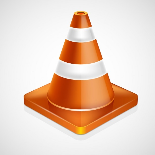 Traffic cone in realistic style Free Vector