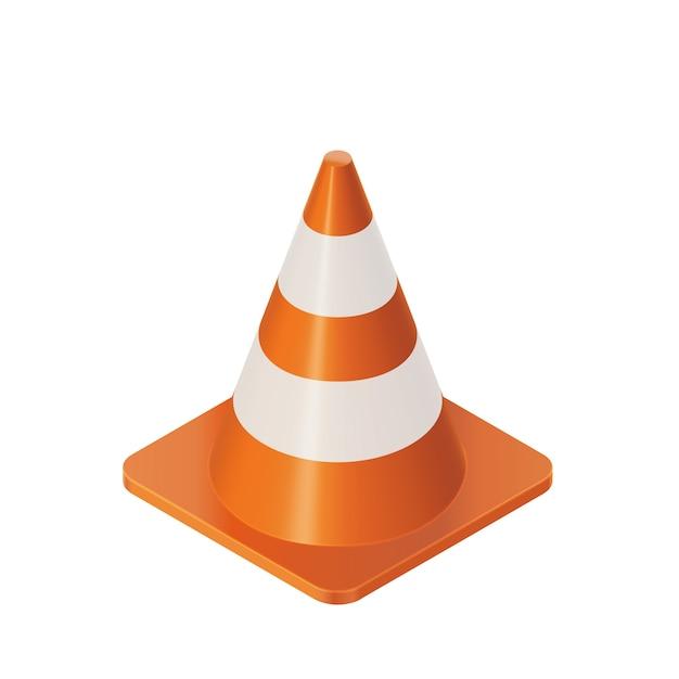 Traffic cones barrier Premium Vector