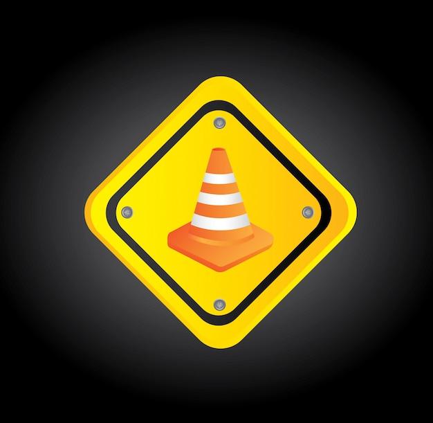 Traffic cones Premium Vector
