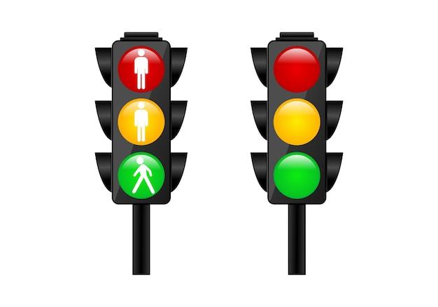 Traffic light logo symbol Premium Vector