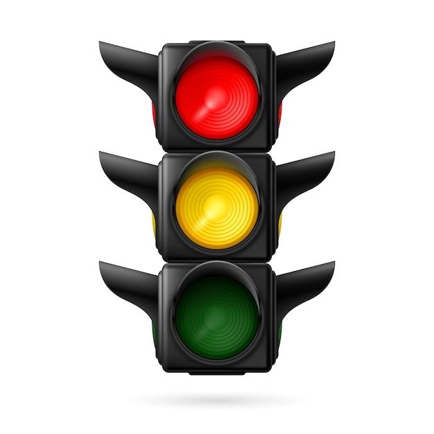 Traffic light Premium Vector