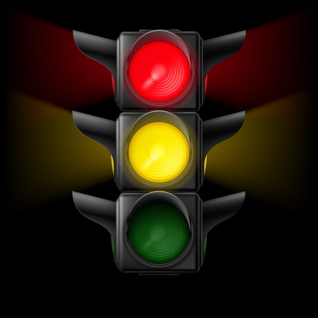 Traffic light Premium Vector