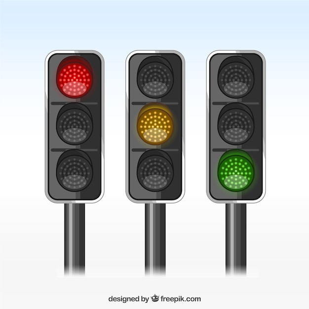Traffic lights Free Vector
