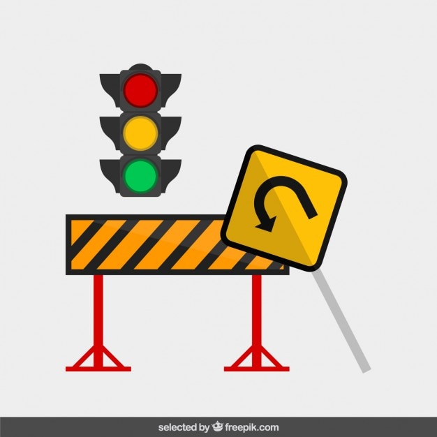 Traffic sign in flat design Vector   Free Download