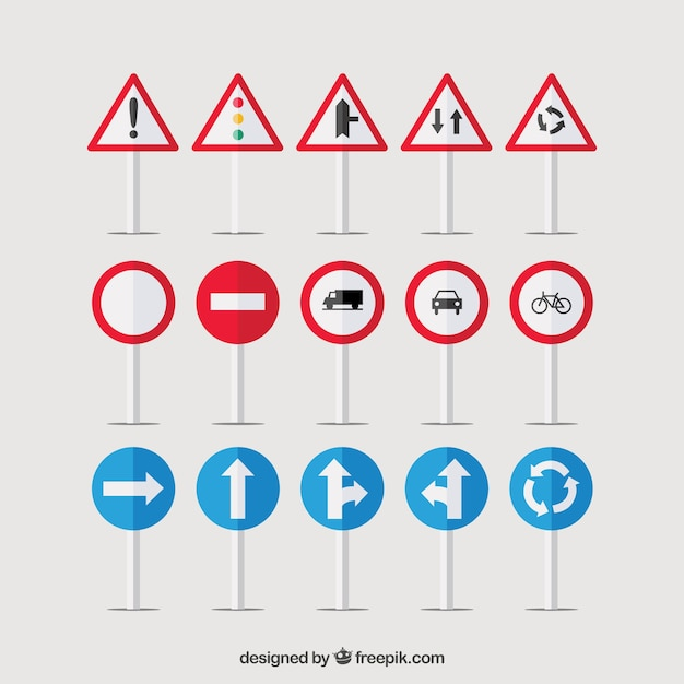 Traffic signs Vector   Free Download