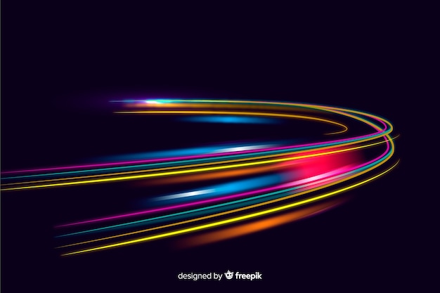 Trails speed lights display background Free Vector