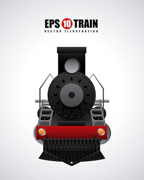 Train design over gray  background vector illustration Premium Vector