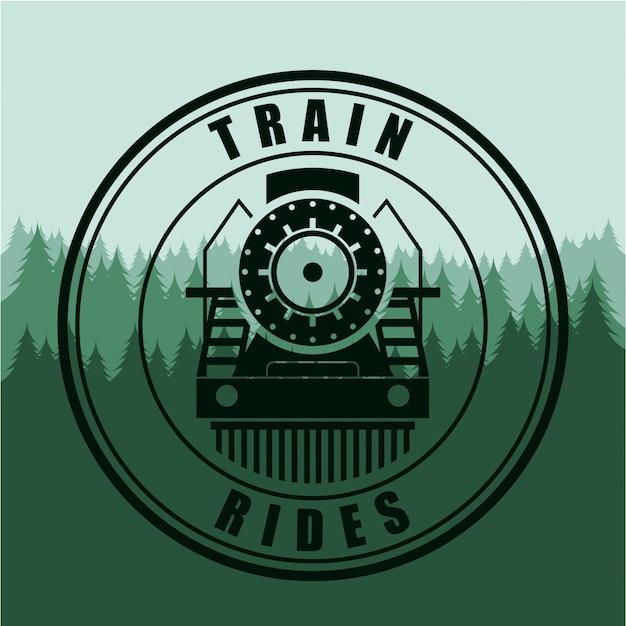 Train design over green background vector illustration Premium Vector