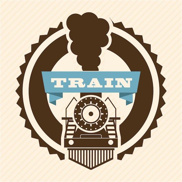 Train design over pink background vector illustration Premium Vector