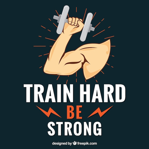 Train hard background Free Vector