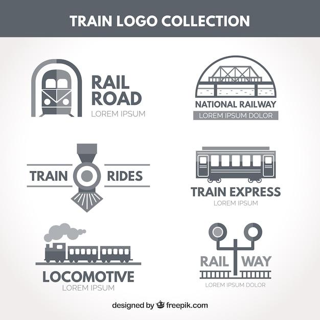 Train logo collection Free Vector