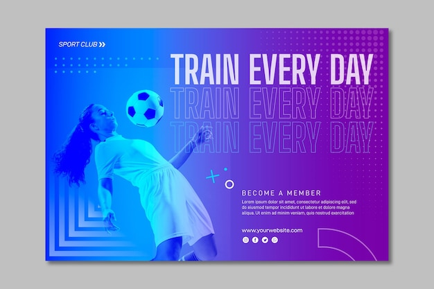 Training banner template with photo Free Vector