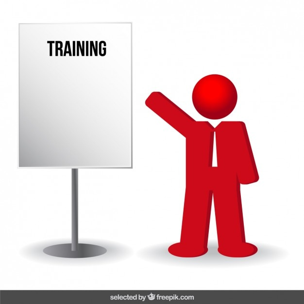 Training businessman red icon Vector | Free Download